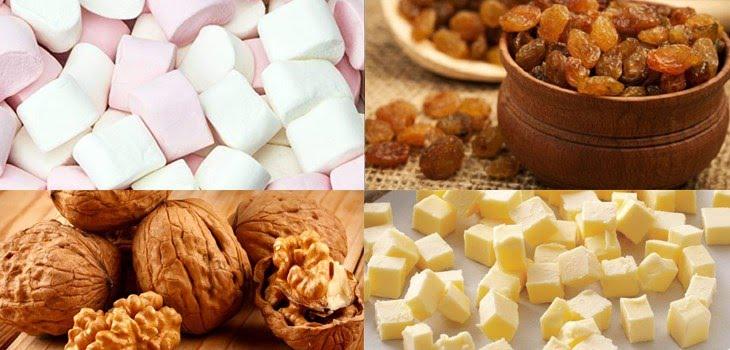 Nguyên liệu làm kẹo sữa Nougat bằng Marshmallow