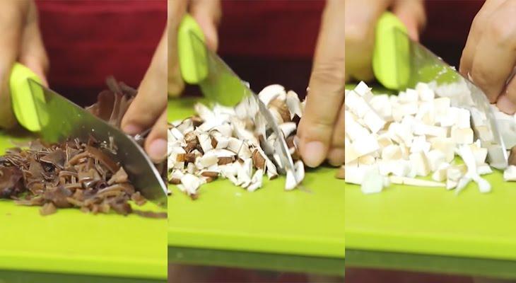 Bước 1 Sơ chế nguyên liệu Bánh giò chay
